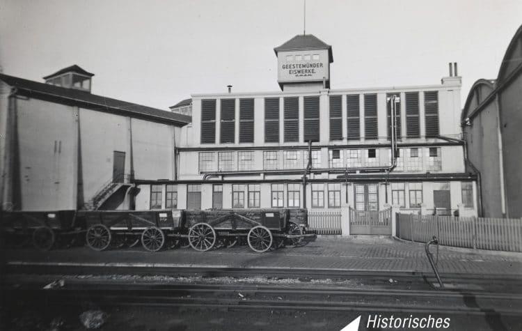 histisches Bild vom alten Eiswerk Bremerhaven
